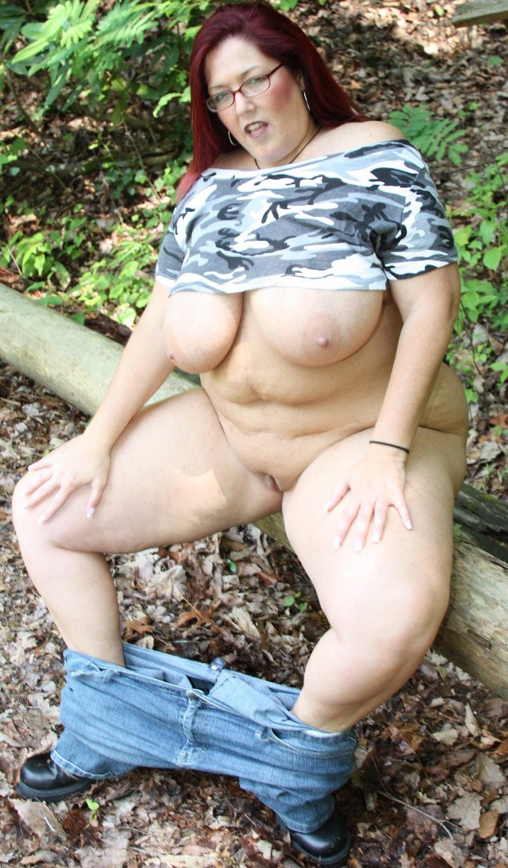 Many Old mature granny outdoors think