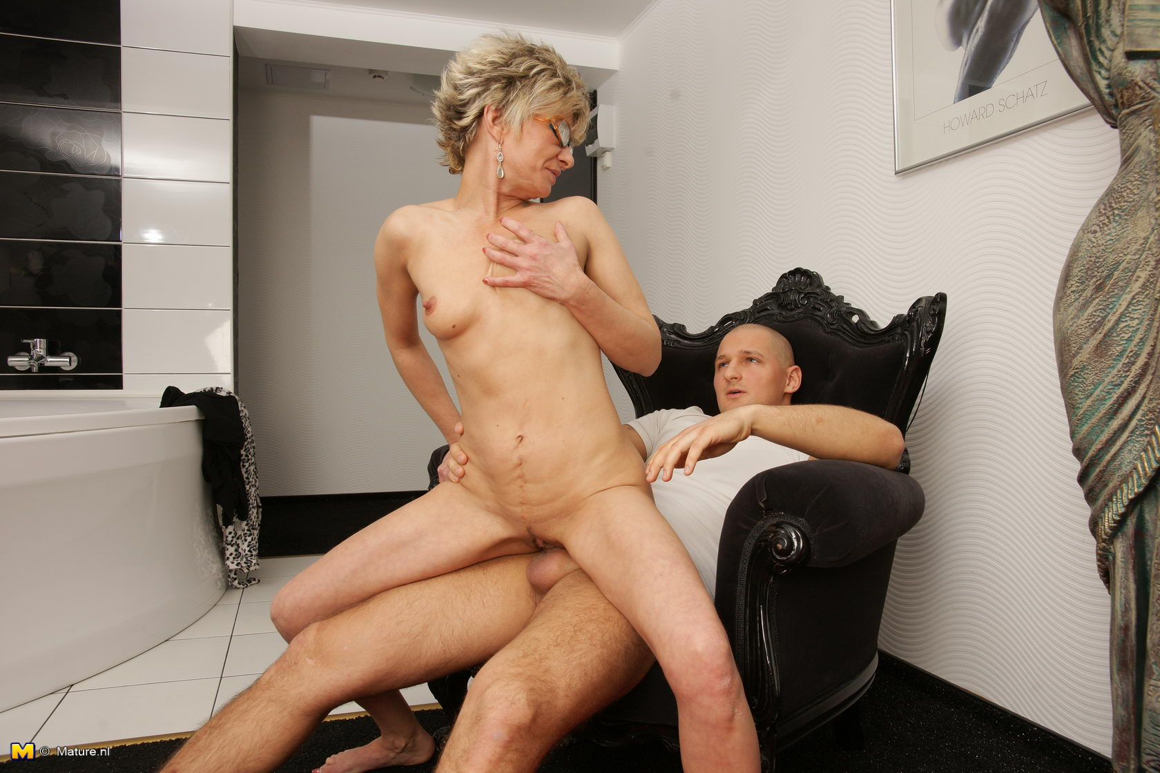 3 Matures And Boy Porn this naughty mature slut loves her toy boy
